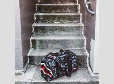 Sprayground x Beyond Hype Black Camo Shark Bag Collection