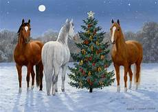 three horses and tree box of 18 cards by lpg
