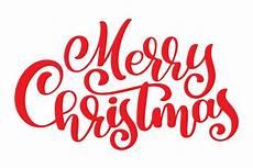 text merry christmas written calligraphy lettering handmade vector illustration fun