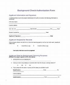 free 10 sle background check forms in pdf ms word