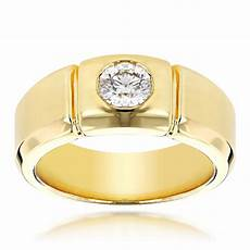 14k gold designer mens diamond wedding ring 0 5ct