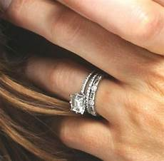 how to wear wedding band and engagement ring best