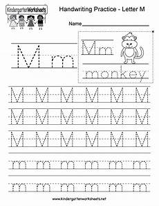 handwriting worksheets for kindergarten 21282 kindergarten letter m writing practice worksheet this series of handwriting with images