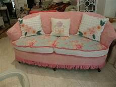 sofa shabby chic shabby chic sofa slipcovered with vintage chenille