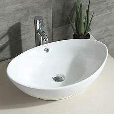 oval white bathroom porcelain ceramic vessel sink bowl chrome faucet basin combo 814644020771 ebay