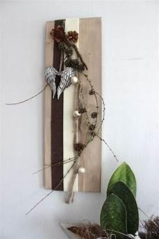 aw36 winterliche wanddeko holzbrett dekoriert mit