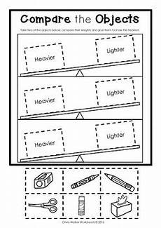 free non standard measurement worksheets for kindergarten 1865 weight worksheets non standard measurement kindergarten grade one students