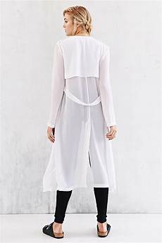white sheer duster coats silence noise silence noise sheer trench coat in white