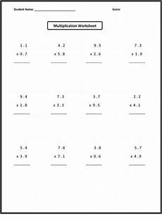 decimal multiplication worksheets grade 7 7696 7th grade math worksheets decimals learning printable
