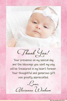 thank you card template for baptism christening baptism photo thank you card baby