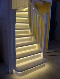 White Stairs With Led Lights By Puupaja Lumberjocks