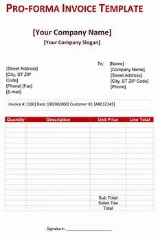 proforma invoice templates 14 free word excel pdf