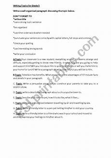 writing worksheets for grade 5 22952 writing topics for grade 5 esl worksheet by reemsancil