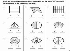 fraction worksheets shaded unshaded 4095 amethyst june 2015