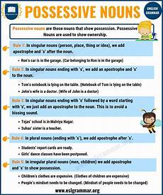 nouns types of nouns with definition rules useful exles esl grammar