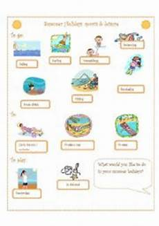 summer sports worksheets 15878 summer holidays sports leisure