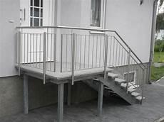 Treppengeländer Außen Verzinkt - treppengel 228 nder aussentreppe