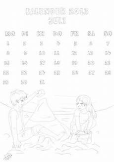 ausmalbilder kalender monatskalender zum basteln und ausmalen