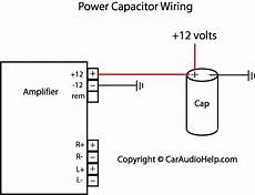 Subwoofer And Capacitor Wire Diagram by Car Audio Capacitor Installation