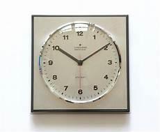 bauhaus modernist junghans ato mat wall clock germany