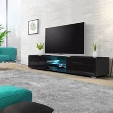 meuble tv banc tv edith 140 cm noir mat noir