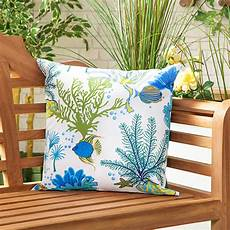 Aquatic Blue Waterproof Canvas Outdoor Scatter Garden