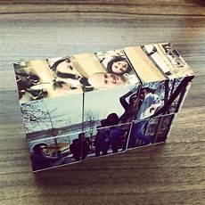 Fotogeschenke Zum Selber Machen - diy w 252 rfelpuzzle basteln geschenke basteln geschenke