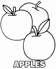 three tasty apples free coloring page to print