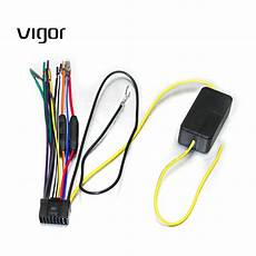 car power stereo radio wiring harness with filter and fuse