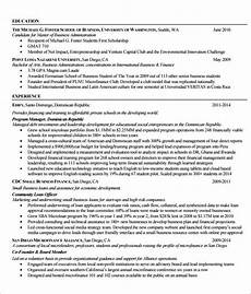 free 5 sle mba resume templates in pdf psd