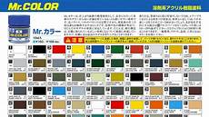 mr color paint list paint charts drazek s blog