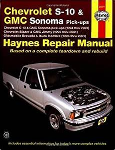 car service manuals pdf 1994 chevrolet g series g30 electronic valve timing chevrolet s10 and gmc sonoma pick ups 1994 thru 2001 haynes automotive repair manual 24071