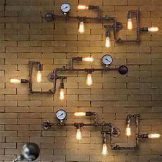 vintage loft industrial steunk wall l retro light rustic pipe lighting ebay