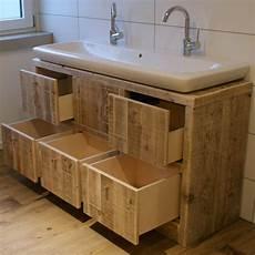 waschtisch für aufsatzwaschbecken aus holz waschtischunterschrank rustikal bestseller shop f 252 r