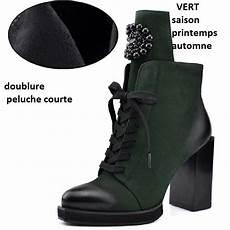 Bottines Femmes Odetina Talon Haut Bottine Femme Lacets