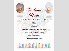 21  Birthday Menu Templates   PSD, EPS, InDesign   Free