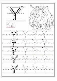letter y worksheet for preschool 23666 trace the uppercase letter y for 1st grade preschool crafts