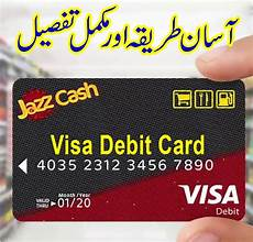 jazz cash charges jazz cash visa debit card online order jazz visa debit card order jazz cash