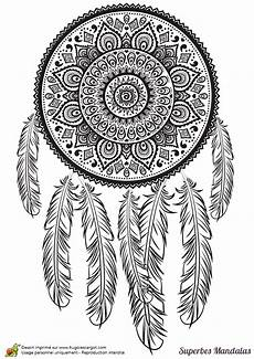 coloriages superbes mandalas tribal indien traumf 228 nger