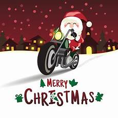 merry christmas santa claus a motorcycle to delivering c stock illustration download