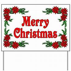poinsettia merry christmas yard sign by woodsyend