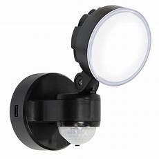 blooma stata black 8w mains powered external pir security light departments diy at b q
