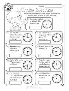 time zone am or pm worksheets math worksheets time zones