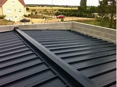 pose bac acier toit plat photo charpente et couverture en bac acier sur la partie