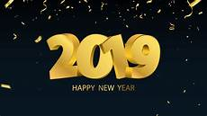 wallpaper happy new year 2019 golden style 5120x2880 uhd 5k picture image