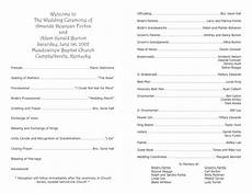 wedding program template 9