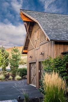 brasada ranch home barn style garage with rope pully rustic garage other by western