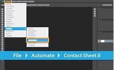 create a contact sheet adobe photoshop tutorials
