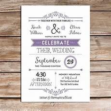 printable lavender diy wedding invitation