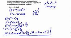 convert the rectangular equation to polar form precalculus chapter 6 4 exercises 35 42 convert equations